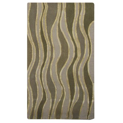 River Flow Wool Beige Area Rug Rug Size: 4 x 6