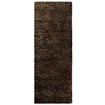Saturn Wool Brown Area Rug Rug Size: Runner 2 x 8