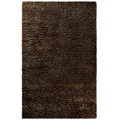 Saturn Wool Brown Area Rug Rug Size: 8 x 10