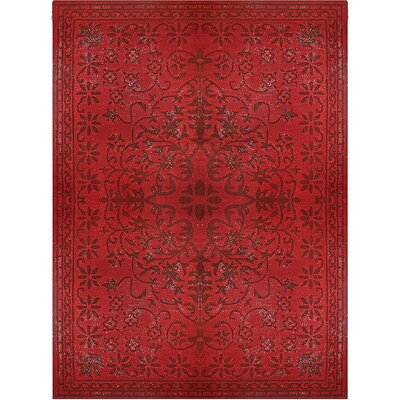 Epoch Vintage Wool Red Area Rug Rug Size: 5 x 8