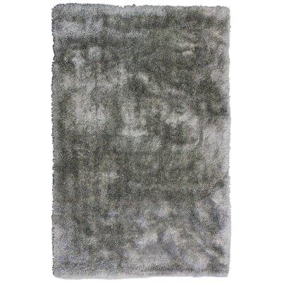 Tinsel Grey Shag Area Rug Rug Size: 9' x 12'