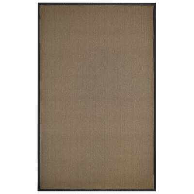 Marica Synthetic Sisal Chocolate Area Rug Rug Size: 4 x 6