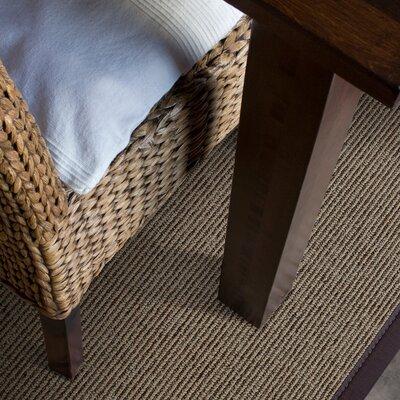 Marica Synthetic Sisal Chocolate Area Rug Rug Size: Runner 2 x 8