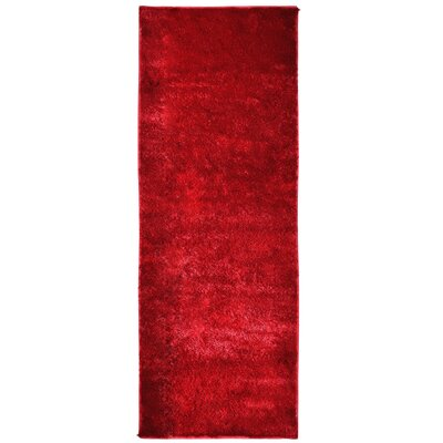 Metro Silk Red Area Rug Rug Size: Runner 26 x 8