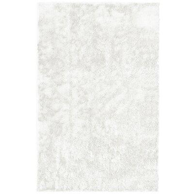 Metro Silk White Area Rug Rug Size: 6 x 9