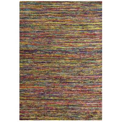 Sari Festival Purple/Green/Yellow Area Rug Rug Size: 6 x 9