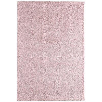 Modern Pink Blush Shag Area Rug Rug Size: 4 x 6