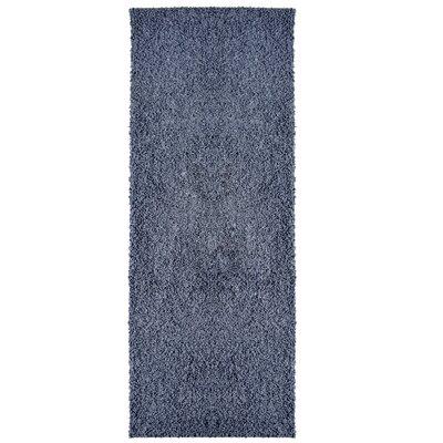 Modern Blue Indigo Shag Area Rug Rug Size: Runner 2 x 8