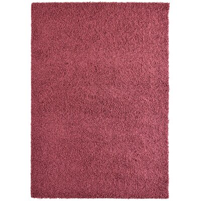 Modern Red Shag Area Rug Rug Size: 8' x 10'