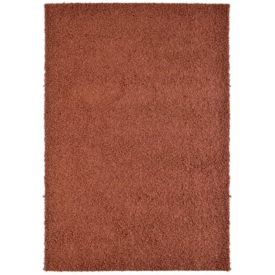 Modern Orange Shag Area Rug Rug Size: 4' x 6'