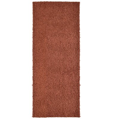 Modern Orange Shag Area Rug Rug Size: Runner 2' x 8'