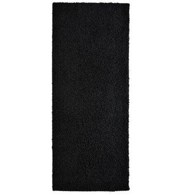 Modern Black Shag Area Rug Rug Size: Runner 2 x 8