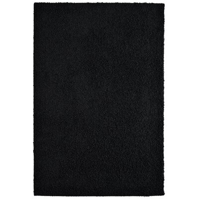Modern Black Shag Area Rug Rug Size: 8 x 10