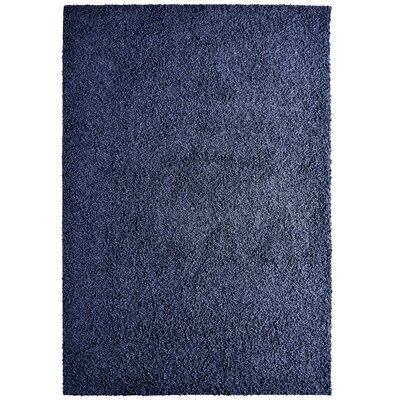 Modern Blue Sailor Shag Area Rug Rug Size: 9 x 12