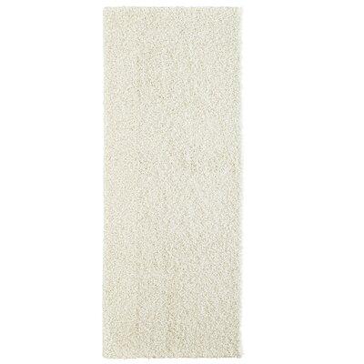 Modern White Shag Area Rug Rug Size: Runner 2 x 8