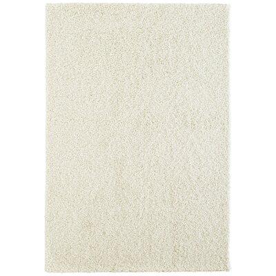 Modern White Shag Area Rug Rug Size: 8 x 10