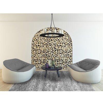 Petal Shag Gray Area Rug Rug Size: 5 x 8