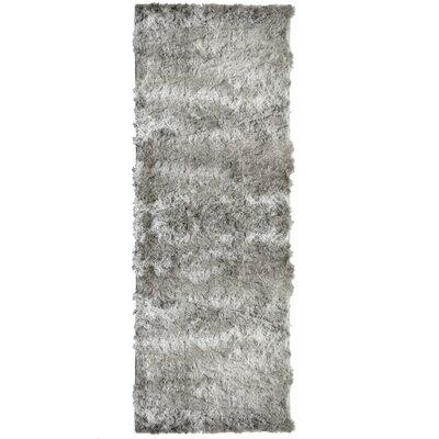 Moonlight Path Grey Area Rug Rug Size: Square 5