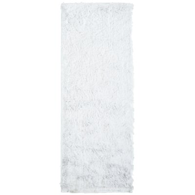 Moonlight Path White Area Rug Rug Size: Runner 26 x 8