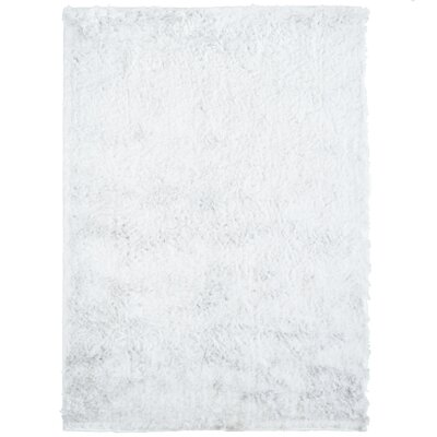 Moonlight Path White Area Rug Rug Size: 8 x 10