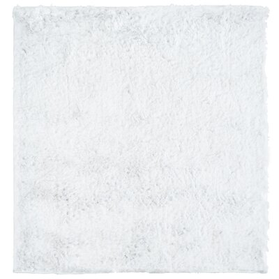 Moonlight Path White Area Rug Rug Size: Square 7