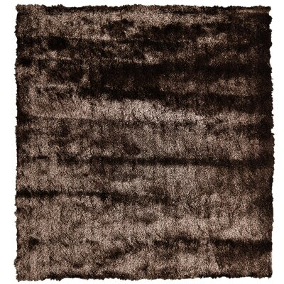 Moonlight Path Chocolate Area Rug Rug Size: Square 5