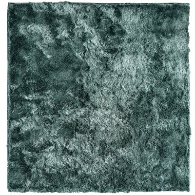 Moonlight Path Hand-Tufted Blue Area Rug Rug Size: Square 7