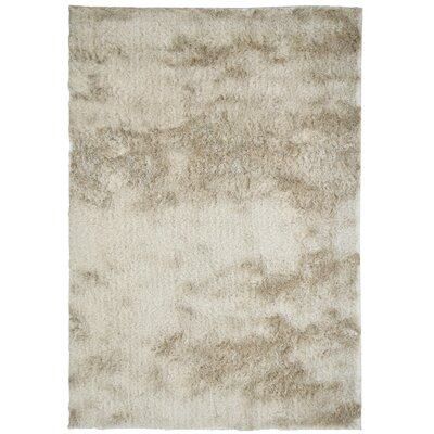 Moonlight Path Hand-Tufted Beige Area Rug Rug Size: 6 x 8