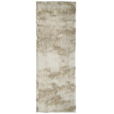 Moonlight Path Hand-Tufted Beige Area Rug Rug Size: Runner 26 x 8