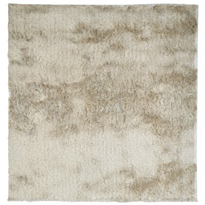 Moonlight Path Hand-Tufted Beige Area Rug Rug Size: Square 5