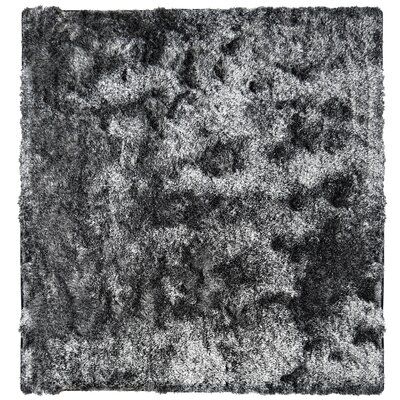Neptune Calling Hand-Tufted Black/White Area Rug Rug Size: Square 5