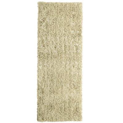 Soft Shag Sand Beige Area Rug Rug Size: Runner 26 x 8