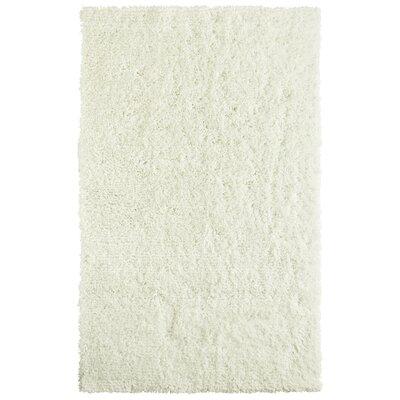 Soft Shag White Area Rug Rug Size: 6 x 9
