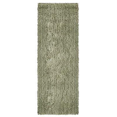 Soft Shag Grey Area Rug Rug Size: Runner 26 x 8