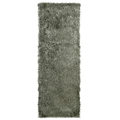 City Shag Hand-Tufted Gray Area Rug Rug Size: Runner 26 x 8