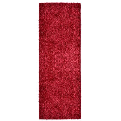 City Shag Red Area Rug Rug Size: Runner 26 x 8