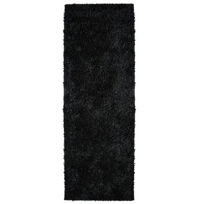 City Shag Black Area Rug Rug Size: Runner 26 x 8