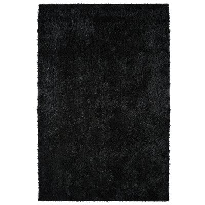City Shag Black Area Rug Rug Size: 9 x 12