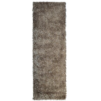 City Shag Taupe Area Rug Rug Size: Runner 26 x 8