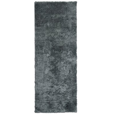 Fluffy Charcoal Area Rug Rug Size: Runner 26 x 8