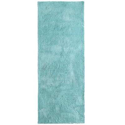 Fluffy Seafoam Area Rug Rug Size: Runner 26 x 8