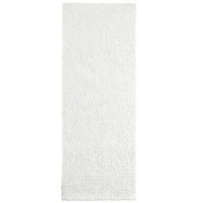 Fluffy White Area Rug Rug Size: Runner 26 x 8