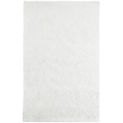 Fluffy White Area Rug Rug Size: 4 x 6