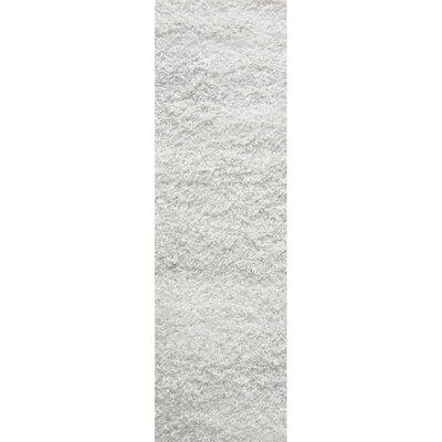 Shag-Ola White Area Rug Rug Size: Runner 2 x 8