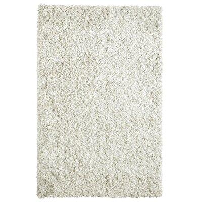 Shag-Ola White Area Rug Rug Size: 6 x 9