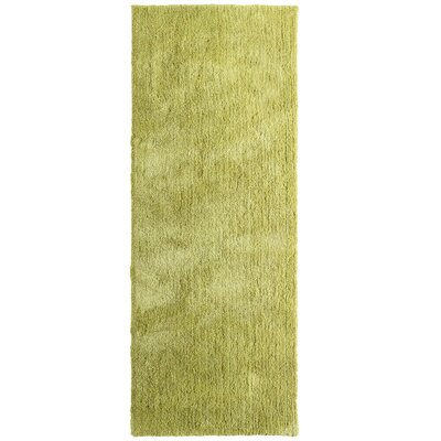 Fluffy Apple Green Area Rug Rug Size: Runner 26 x 8