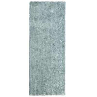 Fluffy Silver Area Rug Rug Size: 6 x 9