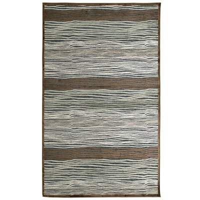 Ricardo Brown/Gray/Green Slate Rug Rug Size: 4 x 6