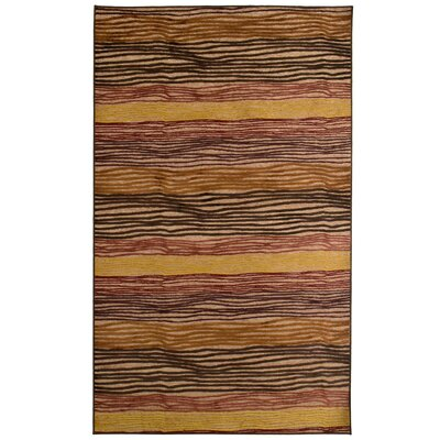 Ricardo Brown/Yellow/Black Autumn Rug Rug Size: 4 x 6