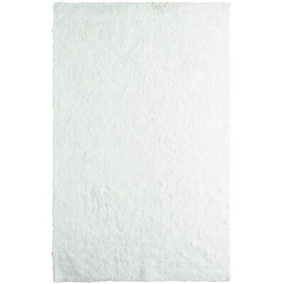Fur White Area Rug Rug Size: 5 x 8